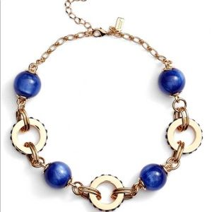 kate spade Jewelry - Kate Spade // Gold Tone Blue Statement Necklace